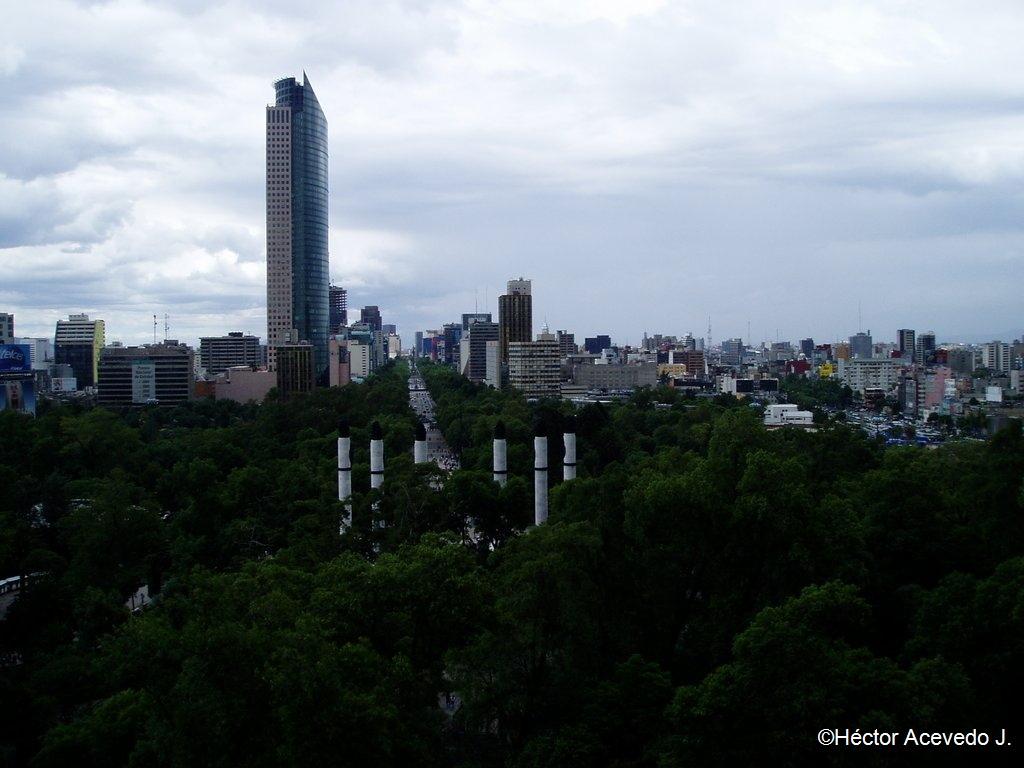Reforma desde el Castillo de Chapultepec