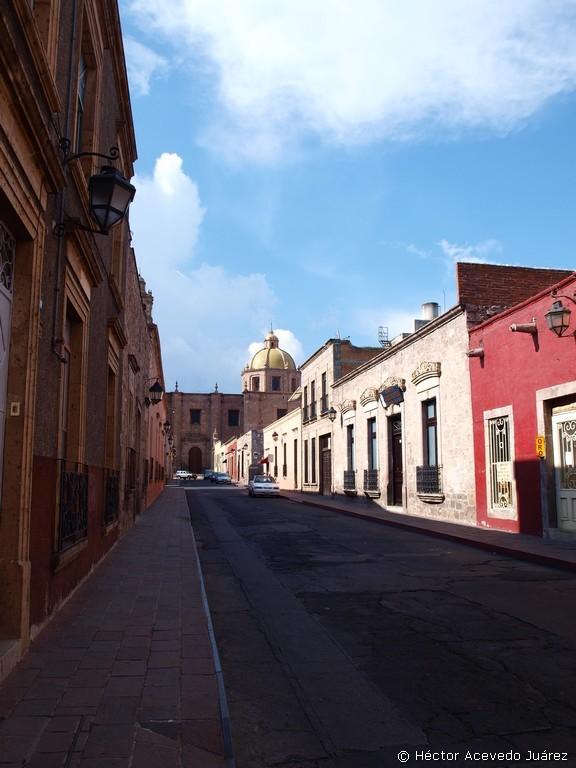Calle típica en Morelia