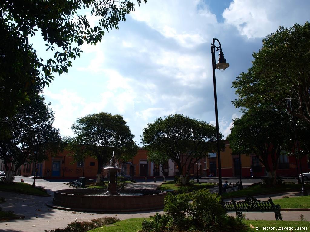 Típico parque en Morelia
