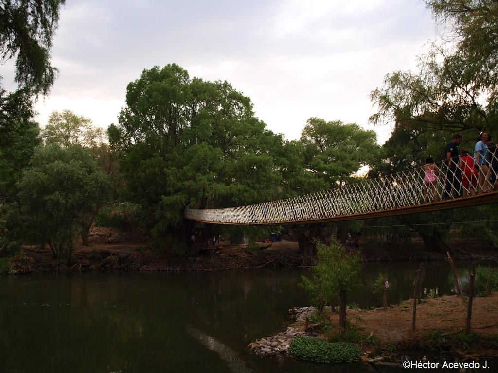 Puente colgante nuevo en Tlaco - 2